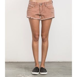 NWT RVCA Hello Mellow Cutoff Denim Shorts